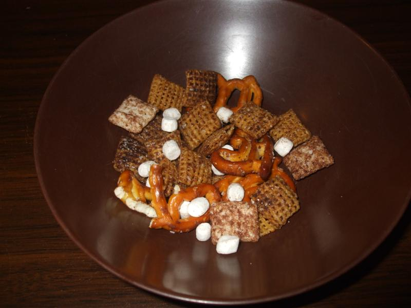 Sample of Winter Chex Mix