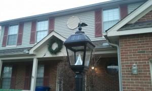 Solar Powered LED Post Lamp